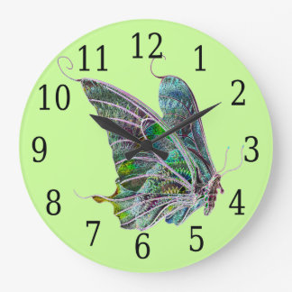 Exotic Butterfly Round Clock