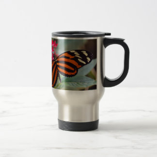 exotic butterfly travel mug
