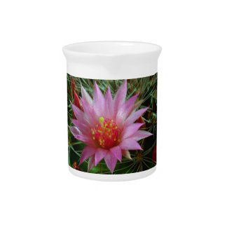 EXOTIC Cactus Flower : Greet Thank n Welcome Beverage Pitchers