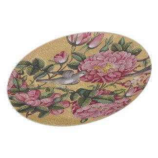 Exotic Camellias Melamine Plate