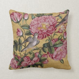 Exotic Camellias Throw Pillow