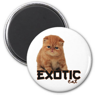 exotic cat breeds 2 inch round magnet