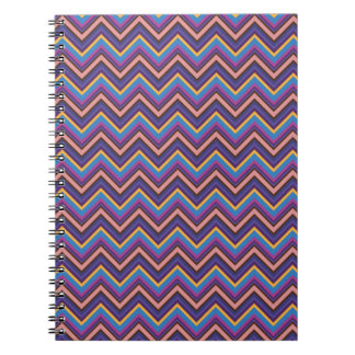 Exotic Chevron in Purple, Blue, Pink, and Gold Notebook