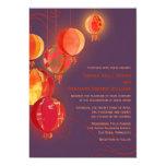 "Exotic Chinese Paper Lanterns Swirls Fall Wedding 5"" X 7"" Invitation Card"