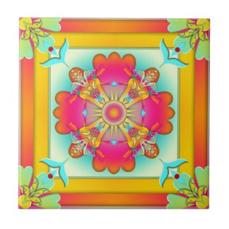 Exotic Colorful Fantasy Kitchen or Bathroom Tile