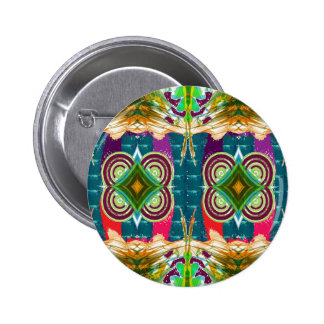 EXOTIC Colorful Geometrical Graphic GIFTS for ALL Pinback Button