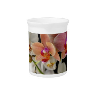 EXOTIC COLORFUL ORCHIDS BEVERAGE PITCHER