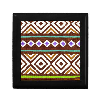 Exotic Colorful Tribal Design Jewelry Box