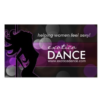 Exotic Dance Instructor Business Car Business Card Template