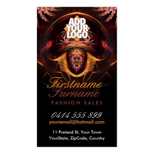 Exotic Dark Fantasy Mystical Business Cards