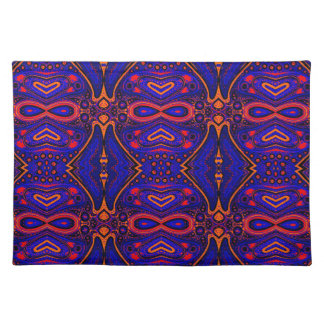 Exotic deep purple tribal abstract placemat