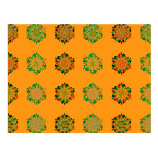 Exotic Digital Flowers | Orange Background | Cards