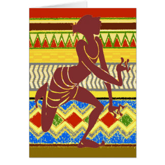 Exotic  Egyptian Dancer Greeting Cards