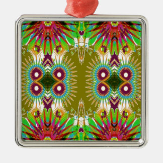 Exotic Elegant Graphic Flowers Patterns GIFTS fun Christmas Tree Ornament
