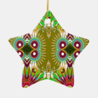 Exotic Elegant Graphic Flowers Patterns GIFTS fun Christmas Ornament