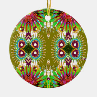 Exotic Elegant Graphic Flowers Patterns GIFTS fun Christmas Tree Ornaments