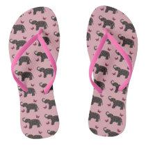 Exotic Elephant Pattern Flip Flops
