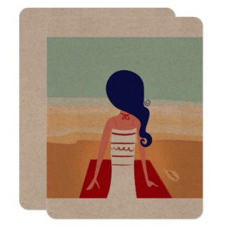 Exotic environmental Card with Vintage girl
