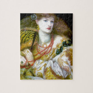 Exotic extravagant woman painting puzzle