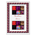 Exotic Fabric patchwork - Fashion Diva Card