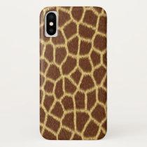 Exotic Faux Giraffe Print Animal Fur Pattern iPhone X Case