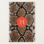 "Exotic Faux Snake Skin Pattern Monogram Planner<br><div class=""desc"">Hey, herpetologists! Enjoy this jungle inspired pattern of multicolored snake skin. Cruelty-free is the future of fashion. Our photographic animal prints are the best way to integrate reptile patterns into your daily life. Check Sparkle Motion for the full range of snakeskin pattern office supplies, including notebooks, folders, pens and desk...</div>"
