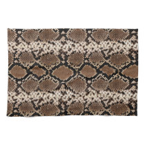 Exotic Faux Snakeskin Photographic Pattern Hand Towel