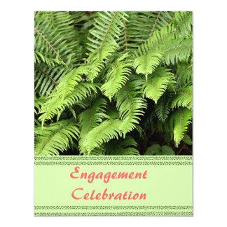 Exotic Fern Engagement Invitation
