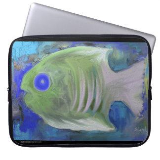 Exotic Fish [Blue] Laptop Sleeve
