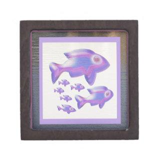Exotic Fish FAMILY Keepsake Box