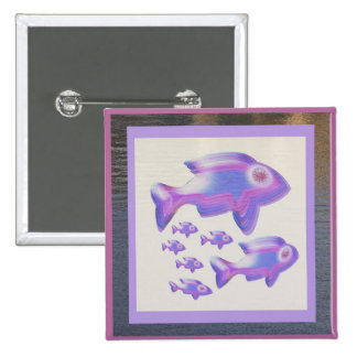 Exotic Fish FAMILY Pinback Button