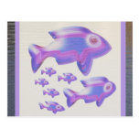 Exotic Fish FAMILY Postcard