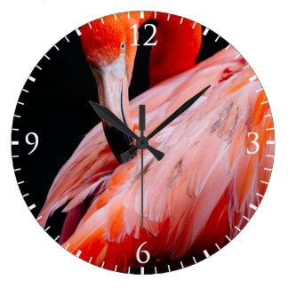 Exotic Flamingo Portrait Wall Clock