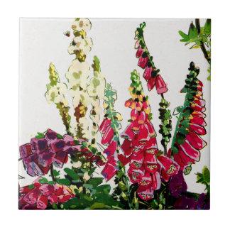 Exotic Flora #1 at SunshineDazzle Ceramic Tile