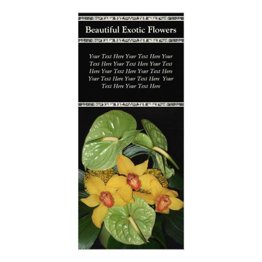Exotic Floral Arrangement Flower Delivery Rack Card