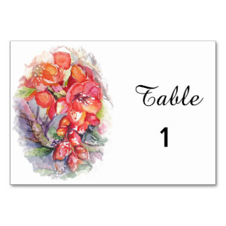 Exotic floral card