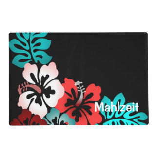 Exotic Floral Design Laminated Place Mat