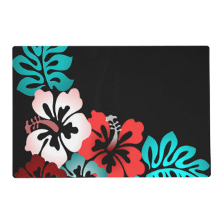 Exotic Floral Design Laminated Placemat