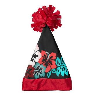 Exotic Floral Design Santa Hat