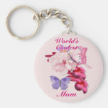 Exotic Floral for Mom Basic Round Button Keychain