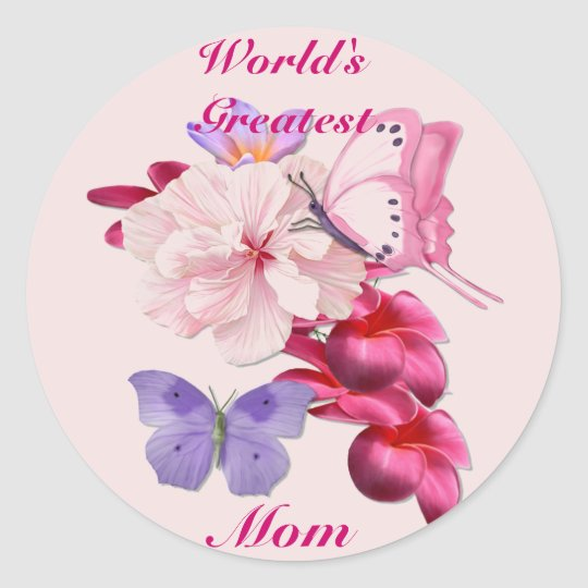 Exotic Floral for Mom Classic Round Sticker