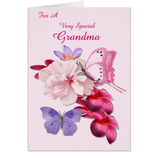 Exotic Floral Special Grandma Card