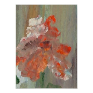Exotic Flower Impressionist Abstract Floral Card