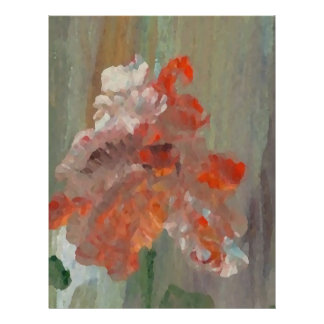 Exotic Flower Impressionist Abstract Floral Flyer