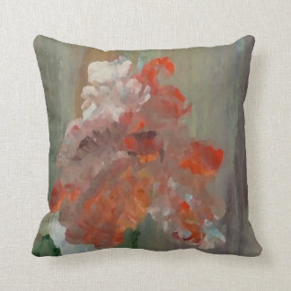 Exotic Flower Impressionist Abstract Floral Pillow