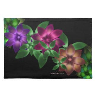 """Exotic Flower Vine Placemat 20"""" x 14"""" Cloth Place Mat"""