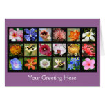Exotic Flowers from Around the World Greeting Card