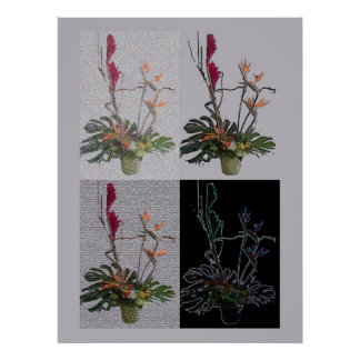 Exotic Flowers using 4 filters Poster