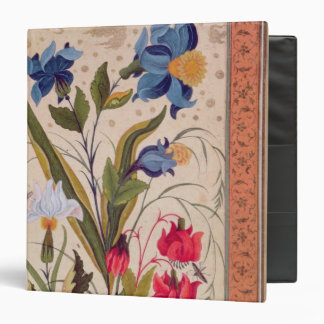 Exotic flowers with insects binder