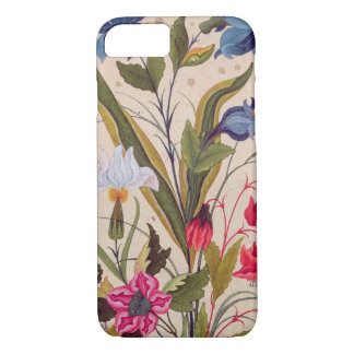 Exotic Flowers With Insects Floral Vintage Art iPhone 7 Case